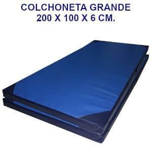 Colchoneta de ejercicio 200x100x6cm. densidad 60 tela cobernil