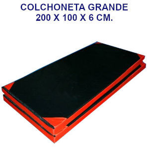 Colchoneta de ejercicio 200x100x6cm. densidad 80 oxford