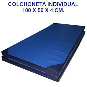 Colchoneta de ejercicio individual densidad 80 cobertura 10000
