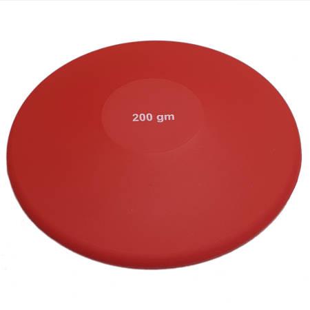 Disco de lanzamiento iniciacion 200 gr. goma