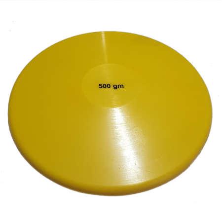 Disco de lanzamiento iniciacion 500 gr. goma