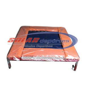 Mini Trampolin 32 resortes - Medidas reglamentarias 1,20 x 1,20 mt.