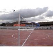 """Parante o poste de Voleibol fijo o de poner y sacar en 4"""" x 3 mm."""