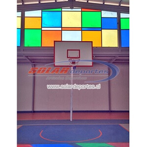 "Arco - Torre de Basquetbol Oficial Empotrada tipo ""L"" invertida - Costanera 200x2mm. - Acrilico"